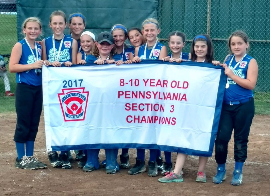 SUBMITTEDPHOTO South Williamsport players pose:Abby Lorson, Alizabeth Schuler, Sage Lorson, Gianna Goodman, Lily Reidy, Emily Holtzapple, Chelsey Harrison, Lacey Kriebel, Lili Cox, Bailey Livermore, Kendall Cardone