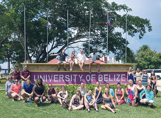 PHOTO PROVIDED Mansfield university students, Caitlin Moran and Nate Romanauski, joined other college students from the state on a trip to Belize earlier this year.