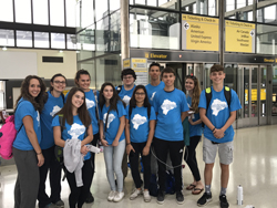 PHOTO PROVIDED Loyalsock Township High School students recently traveled to Ecuador. Shown from left, are Heather Holmes; Becky Leid, Spanish teacher; Morgan O'Connor; Sienna Tolomay; Leah Jabbour; Jerad Garrison; Abagail Patel; Gerald Ross; Jonah Keissling; Hannah Walter; and Alex Reed.