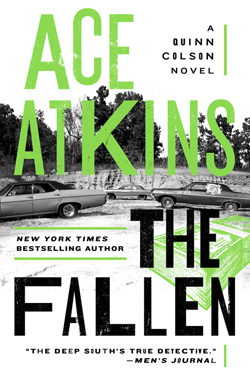 "This cover image released by G.P. PutnamÕs Sons shows ""The Fallen,"" a novel by Ace Atkins. (G.P. PutnamÕs Sons via AP)"