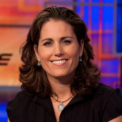 Julie Foudy is a sideline reporter for this year's Little League World Series.