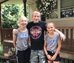 PHOTO PROVIDED Shown is Logan Roush, center, with his nieces, Ryen and Camron.