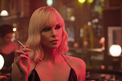 "This image released by Focus Features shows Charlize Theron in ""Atomic Blonde."" (Jonathan Prime/Focus Features via AP)"