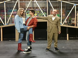 PHOTO PROVIDED Left to right are Maddison Black as Ariel; Joey Maguschak as Ren; and and Isaac J. Conner as Rev. Moore.