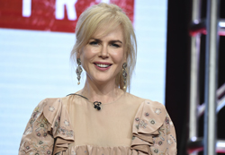 "Nicole Kidman participates in the ""Top of the Lake: China Girl"" panel during the AMC and Sundance TV Television Critics Association Summer Press Tour at the Beverly Hilton on Saturday, July 29, 2017, in Beverly Hills, Calif. (Photo by Richard Shotwell/Invision/AP)"