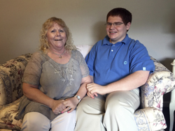 ASSOCIATED PRESS Matt Love and his mother, Joyce, pose for a photo at their home in Blackwood, N.J. Matt attended Camden County Technical Schools. In 10th grade, he entered the pre-engineering academy, and before long was ranked No. 1 academically out of 322 students in the Class of 2017.