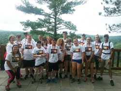 PHOTO PROVIDED Mansfield University Earth campers at the Pennsylvania Grand Canyon.