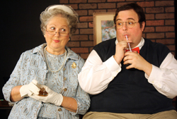 PHOTO PROVIDED Left, Joan Crooks as Mrs. Mannerly and Matt Harris as Jeffrey.