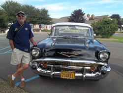 PHOTOS PROVIDED Shown is Tom Frymire and his 1957 Chevy.