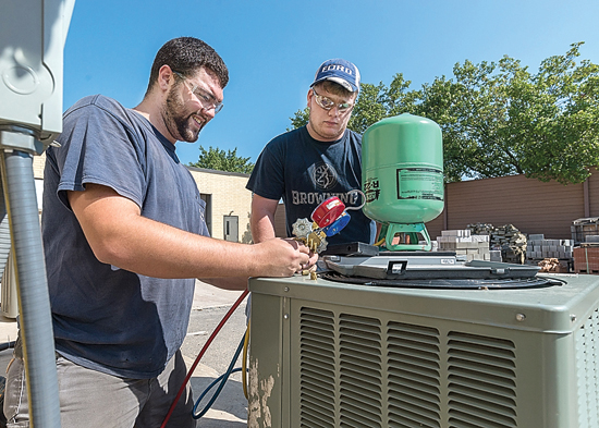 PHOTO PROVIDED Heating, ventilation and air conditioning technology is one of six associate degree majors at the heart of a $1 million career-readiness grant awarded to Pennsylvania College of Technology by the National Science Foundation.