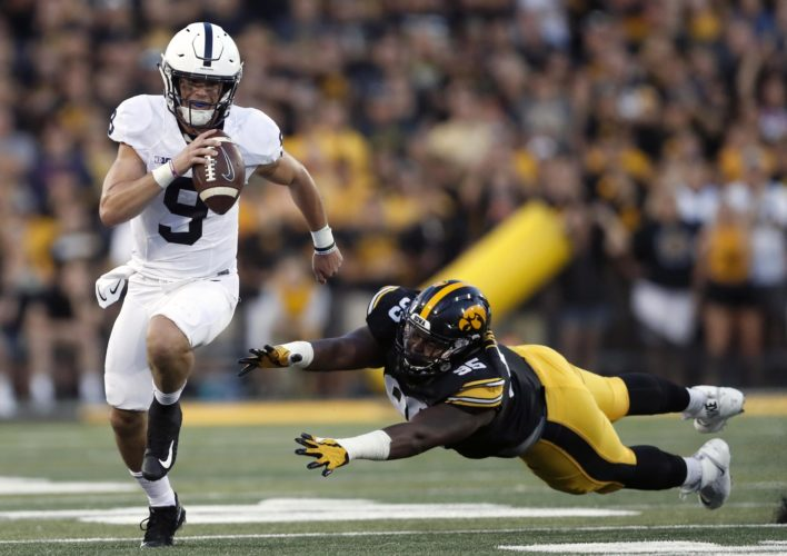 ASSOCIATED PRESS Trace McSorley led Penn State on a game-winning drive Saturday at Iowa.