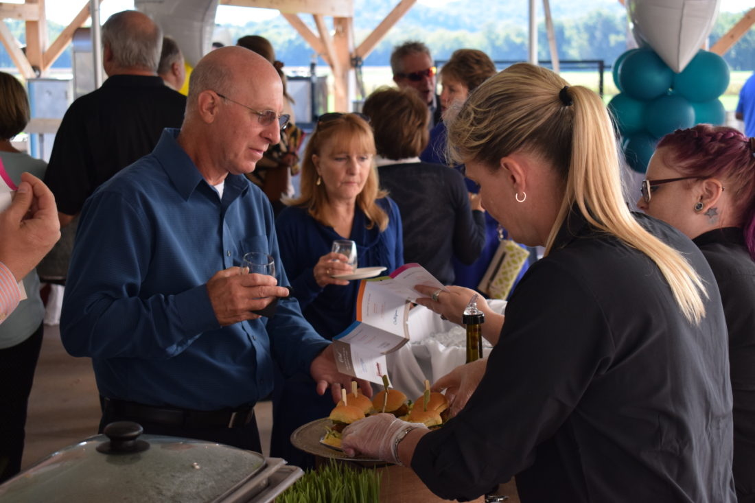IOANNIS PASHAKIS/ Sun-Gazette Attendees sampled wine and tried gourmet food pairings during The First Community Foundation Partnership's Corks and Forks fundraising event.
