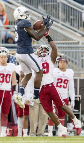 ASSOCIATED PRESS DaeSean Hamilton is now PSU's all-time receptions leader.