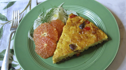This Oct. 2, 2017 photo shows an Italian sausage frittata in New York. This dish is from a recipe by Sara Moulton. (Sara Moulton via AP)