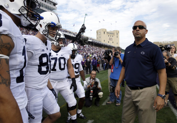 ASSOCIATED PRESS James Franklin's success has spawned rumors that he could be attractive to other schools.