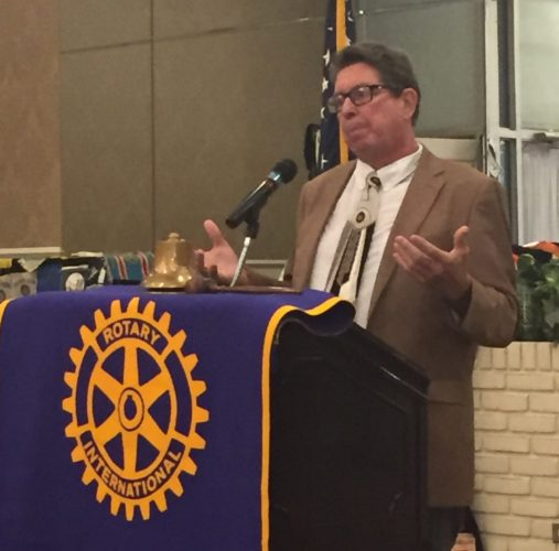 SETH NOLAN/Sun-Gazette Dr. Anthony J. Cipolla, parking authority chairman, addresses the Rotary Club Monday.
