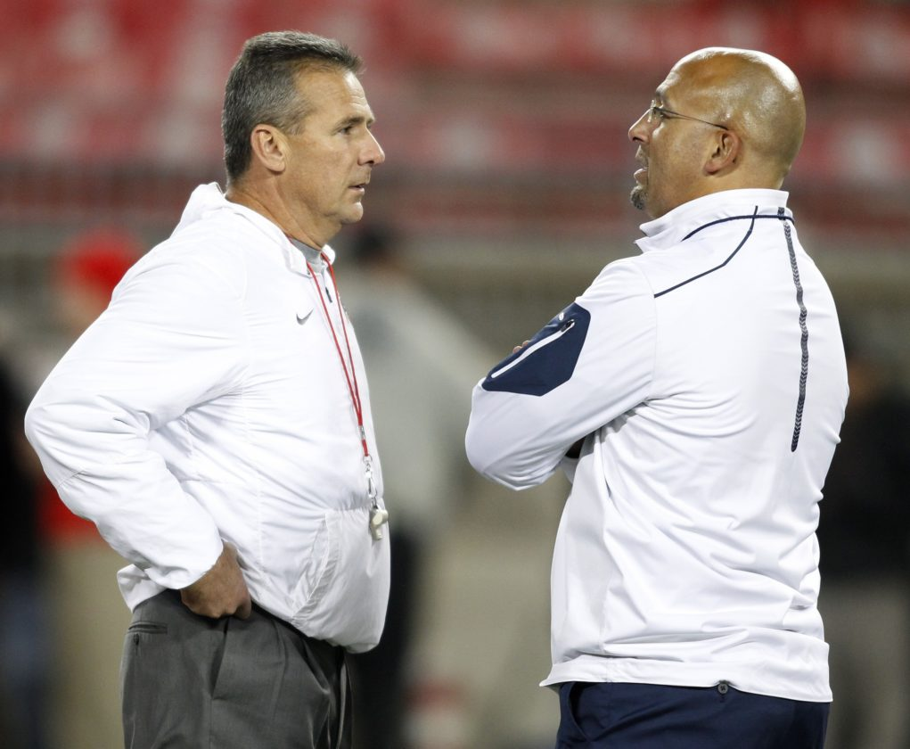 ASSOCIATED PRESS James Franklin is 1-2 against Ohio State and Urban Meyer at Penn State.