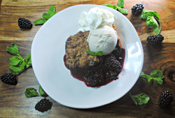 JAMES PEREIRA/Sun-Gazette Correspondent Shown is blackberry brandy cobbler.