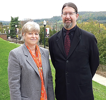 PHOTO PROVIDED Shown, from left, are Nancy L. Sidell, who will serve as interim associate provost and dean of the Faculty, and John M. Ulrich, who has been named as interim provost.