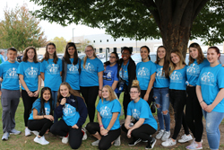 PHOTO PROVIDED Shown are Williamsport Area High School students who recently participated in the Out of the  Darkness walk.