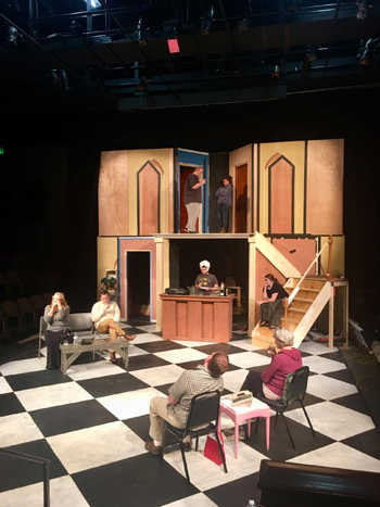 """PHOTO PROVIDED In this photo by Isaac J. Conner, The cast of """"Rumors"""" rehearses for their upcoming performances 7:30 p.m. Nov. 10-11, 16-18 and 2 p.m. Nov. 19."""