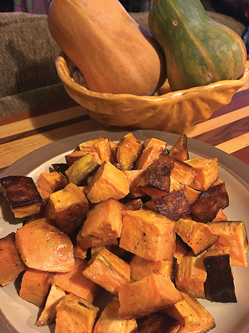 DANIELLE HUNTER/Sun-Gazette Correspondent Pumpkins are a fall favorite that can be used in a variety of ways in both sweet and savory dishes. Shown is a roasted pumpkin with shallots dish by Danielle Hunter.
