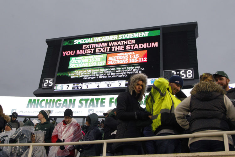 ASSOCIATED PRESS James Franklin did not want to use the weather delay as an excuse for the loss.