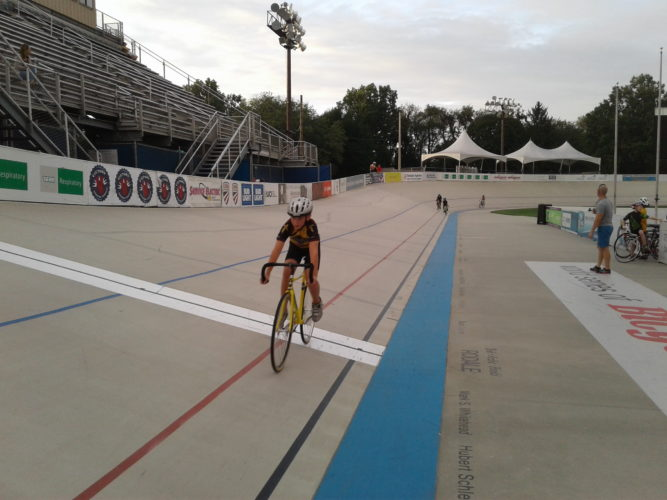 PHOTO PROVIDED  Colton Bodwell rides on the velodrome at the The Valley Preferred Cycling Center.