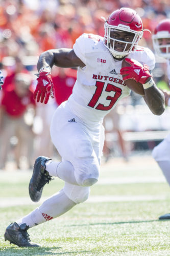 Gus Edwards leads a three-man rushing attack for Rutgers. ASSOCIATED PRESS