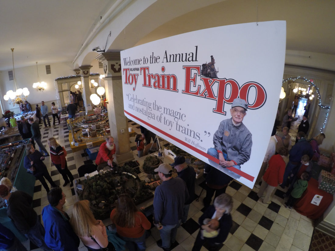 PHOTO PROVIDED Visitors of past Will Huffman Toy Train Expo events enjoy train displays. The Will Huffman Toy Train Expo returns Nov. 18 and 19.