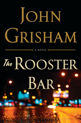 "This cover image released by Doubleday shows ""The Rooster Bar,"" by John Grisham. (Doubleday via AP)"