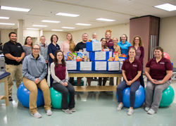 PHOTO PROVIDED Penn College's Physical Therapist Assistant Club collected boxes of nonperishable food on campus and at physical therapy clinics across the region as part of the Global Physical Therapy Day-of-Service.