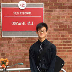 PHOTO PROVIDED Williamsport Area High School freshman violinist Michael Fisher, pictured, will compete as a finalist in the MTNA Eastern Division Junior String Competition in January.