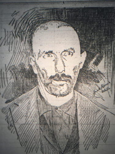 "SUN-GAZETTE FILE PHOTO This is a portrait of William Hummel that was included in the special ""Hummel Edition"" of the Gazette and Bulletin. The edition was a comprehensive look at the murders from start to finish, released on the day Hummel was hung on June 5, 1900."
