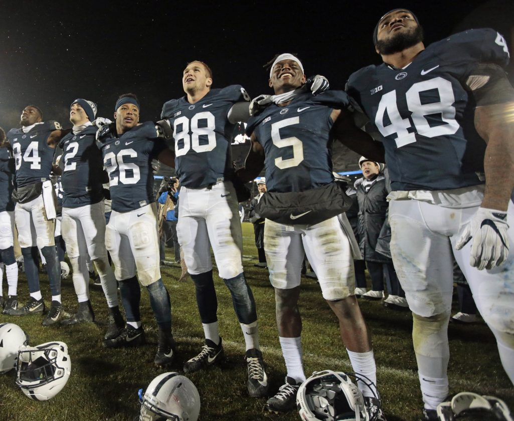 ASSOCIATED PRESS Penn State remains in line for a major bowl bid with a win today at Maryland.