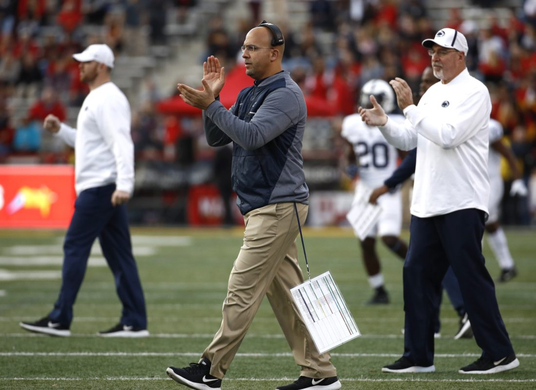 ASSOCIATED PRESS James Franklin is out to replace multiple assistants now that Charles Huff has joined Joe Moorhead at Mississippi State.