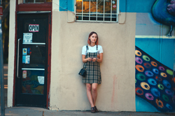 """This image released by A24 Films shows Saoirse Ronan in a scene from """"Lady Bird."""" The film, directed by Greta Gerwig, was named best picture at the New York Film Critics Circle Awards on Thursday, Nov. 30. (Merie Wallace/A24 via AP)"""