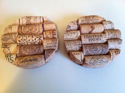 JULIE STELLFOX/Sun-Gazette Correspondent Shown are a couple items created from wine corks. Pictured, from left, are coasters and a paper towel holder.