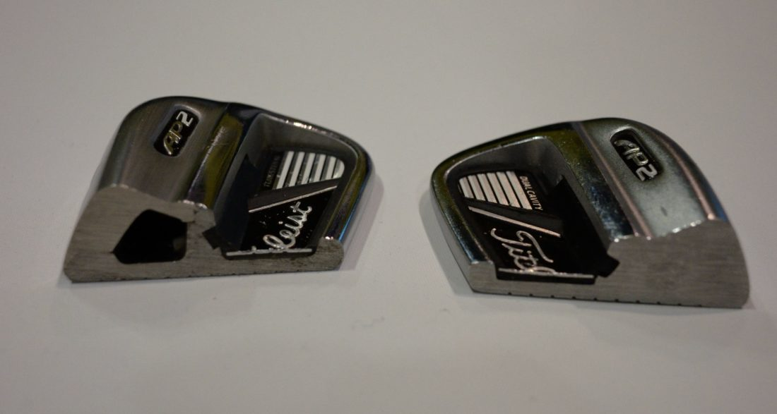 SUBMITTED PHOTOS The counterfeit detectives cut the product in half to reveal the fake clubs.