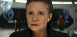 "This image released by Lucasfilm shows Carrie Fisher as General Leia in ""Star Wars: The Last Jedi,"" in theaters on Dec. 15. (Lucasfilm via AP)"