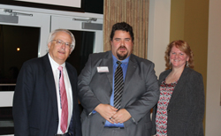 PHOTO PROVIDED From left, are Dr. Stephen Neun, dean of the Stephen Poorman College of Business, Information Systems and Human Services; Bo Miller, director of technology infrastructure; and Dr. Susan Strayer, professor of computer science.
