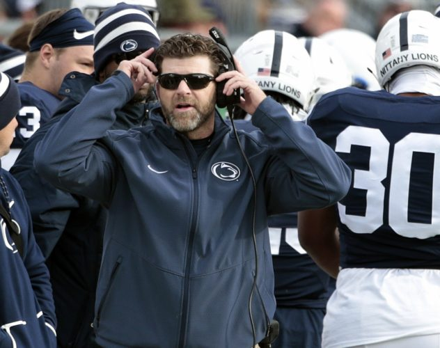ASSOCIATED PRESS Penn State defensive coordinator Brent Pry reported mutual interest in Louisiana-Lafayette head coaching job.
