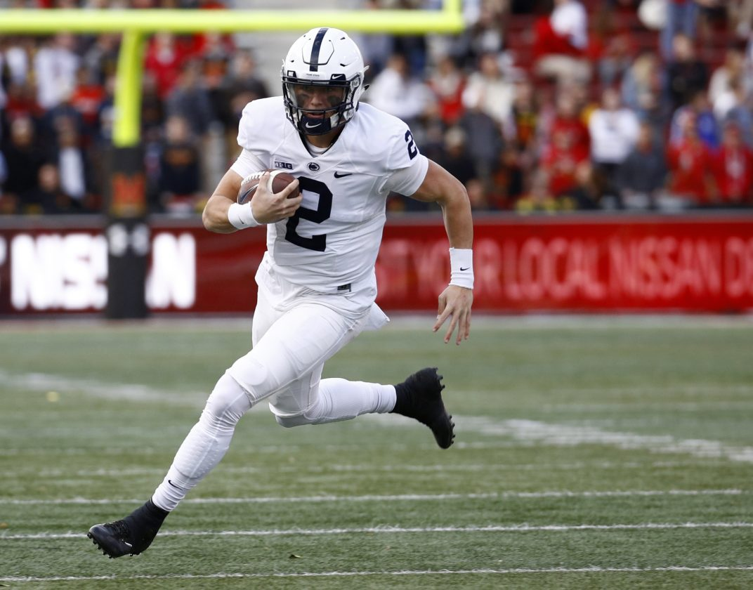 ASSOCIATED PRESS Tommy Stevens is listed as a starter on the Penn State depth chart.
