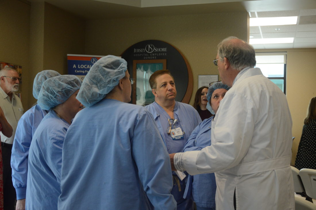 Leaders of Geisinger Health tour the newly dubbed Geisinger Jersey Shore Hospital.