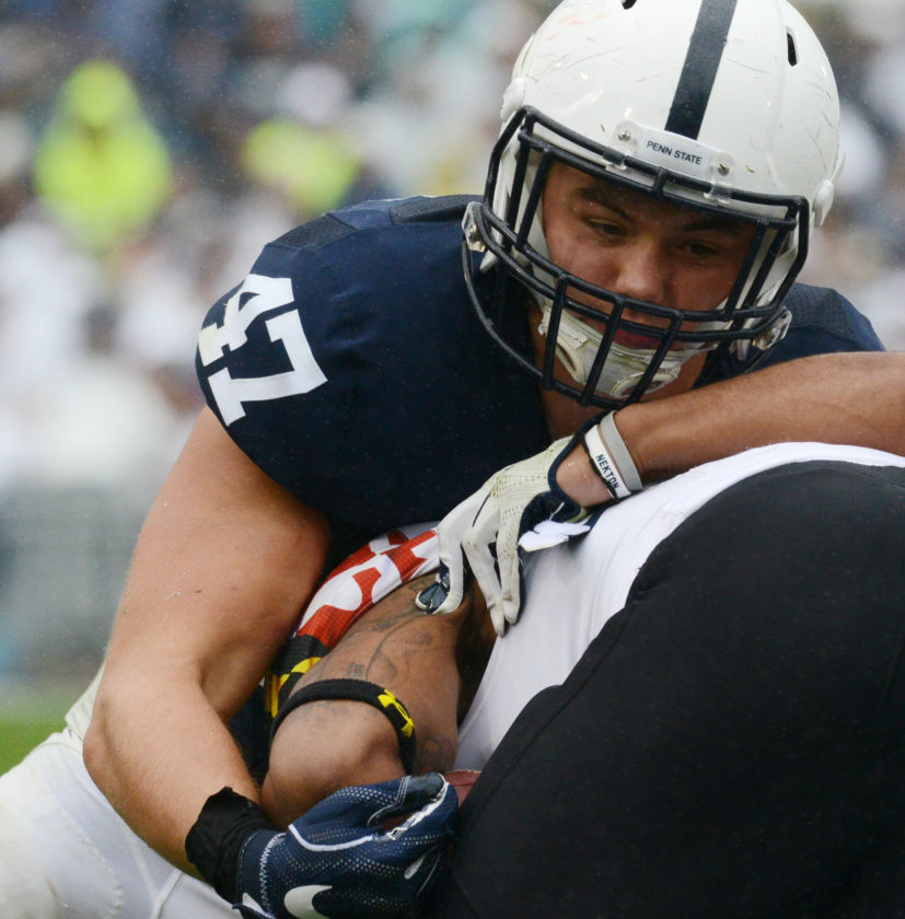 """6. Lewisburg's Brandon Smith completes the last of the """"run-on"""" careers at Penn State, finishing a Fiesta Bowl season as a starting linebacker."""