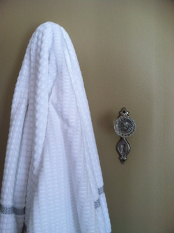 PHOTO PROVIDED Shown is an antique doorknob that was repurposed into a vintage towel hook by Dr. Lori.