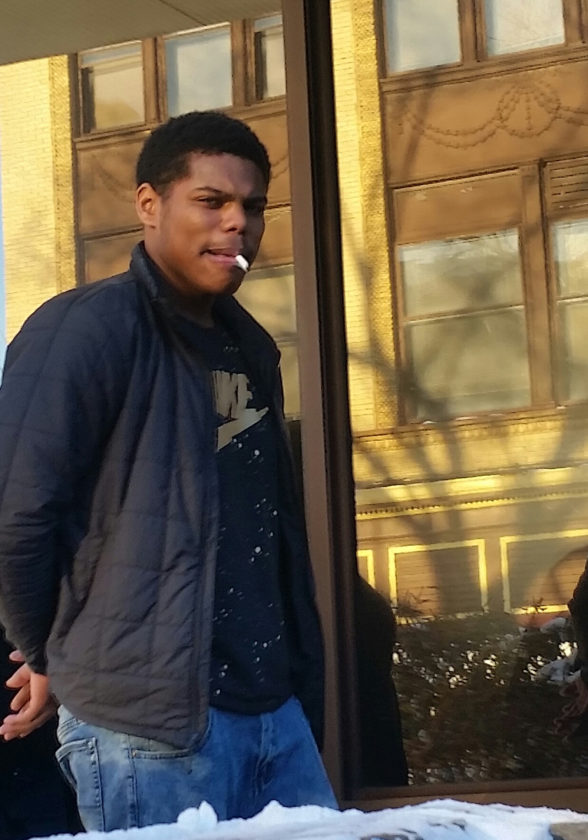 Jaziah Strickland, 18, heads to the Lycoming County Prison after he was arraigned Wednesday on charges of allegedly punching his pregnant girlfriend in the face and kicking her in the stomach during a disturbance at the UPMC Susquehanna Williamsport Regional Medical Center.       PHILIP A. HOLMES/Sun-Gazette
