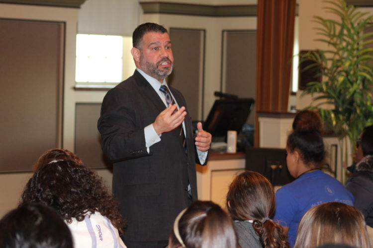 CARA MORNINGSTAR/Sun-Gazette Pedro Rivera, the state secretary of education, speaks at Lycoming College in Williamsport on Thursday.