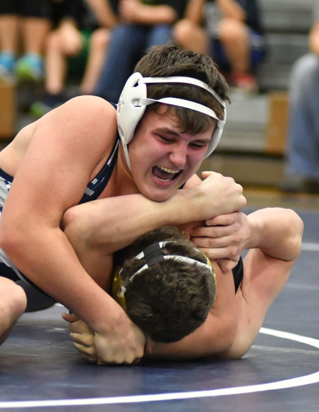 Cael Hembury and Muncy could see a rematch with Southern Columbia in Saturday's District 4 AA Duals final. MARK NANCE/ Sun-Gazette