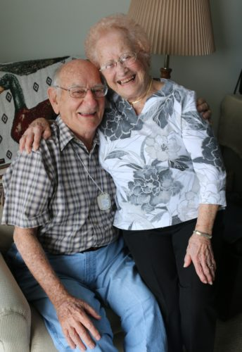 WENDY CHESTNUT/Sun-Gazette Correspondent Harold and Gloria Biichle, were married Oct. 22, 1948. After traveling west in a mini camper and to Alaska and living for ten winters in Florida, the couple, married for 69 years, reside at the Williamsport Home apartments.
